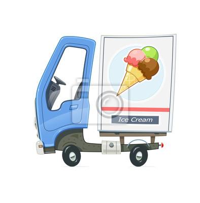 Fabulous Kleiner lkw kühlschrank für die lieferung eis. lkw mit blau AW63