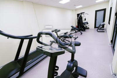 fototapete kleines erschwingliches fitnessstudio zu hause