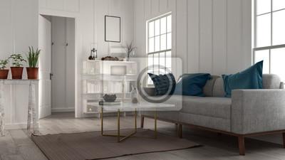 Kleines Gemutliches Wohnzimmer Mit Grossem Sofa Fototapete