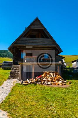 Fototapete Kleines Holzhaus