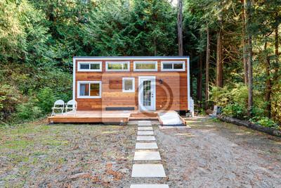 Kleines Holzhaus Aussendesign Fototapete Fototapeten