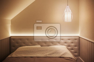 Kleines hotel zimmer interieur fototapete • fototapeten appartment ...