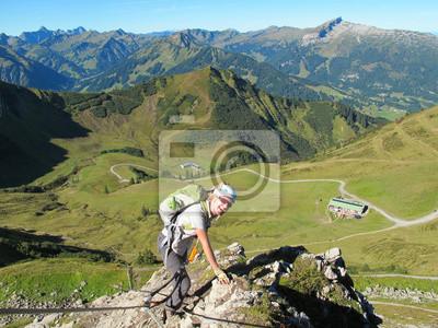 Klettersteig Kleinwalsertal : Kleinwalsertal kanzelwand klettersteig fototapete u fototapeten