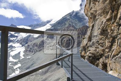 Klettersteig Wallis : Klettersteig in den walliser alpen der schweiz fototapete