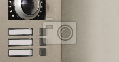 Fototapete: Klingel mit kamera und gegensprechanlage