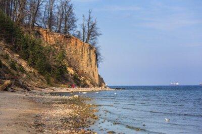 Fototapete Klippe von Orlowo an der Ostsee, Polen