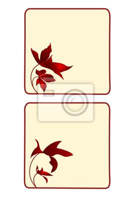 Knopf,-Banner,-square-mit-Blumen-Zweitsatz