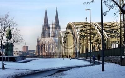 Kolner Dom Im Winter Fototapete Fototapeten Strass Blackjack Cologne Myloview De