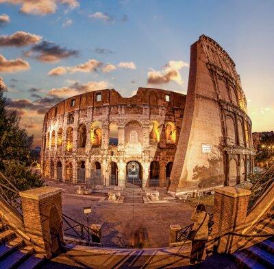 Fototapete Kolosseum am Abend, Rom, Italien