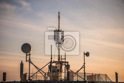 Kommunikation Antenne Gebäude-Dach