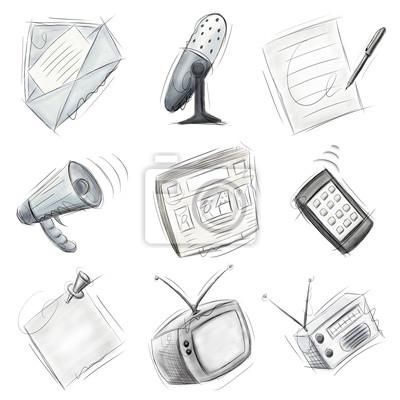Kommunikation Icons