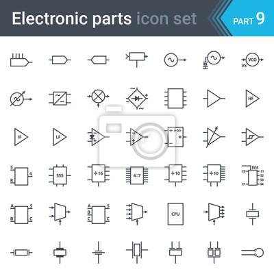 Kompletter vektorsatz von elektrischen und elektronischen ...