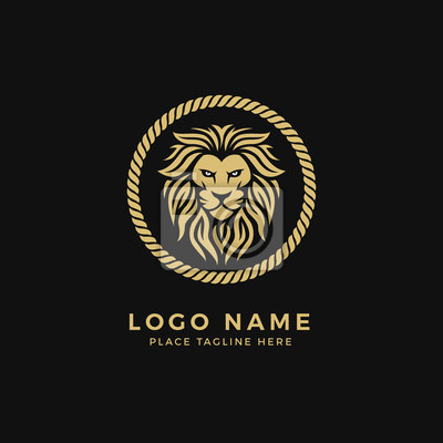 Logo With Lion Head Exclusive Logo 28333 Lion Head LogoAngry