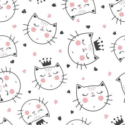 Fototapete Königin Katzenmuster