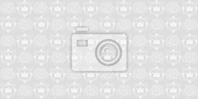 Fototapete Königliche Tapete. Graue Und Weiße Farbe. Design Tapete,  Dekoration Muster Wiederholen,