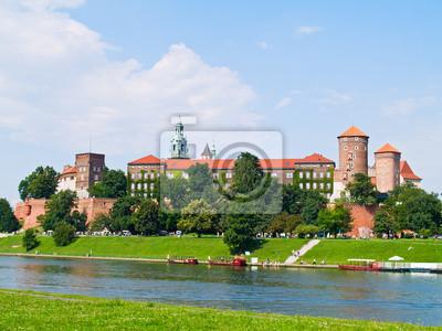 Fototapete Königsschloss auf dem Wawel- Hügel in Krakau, Polen
