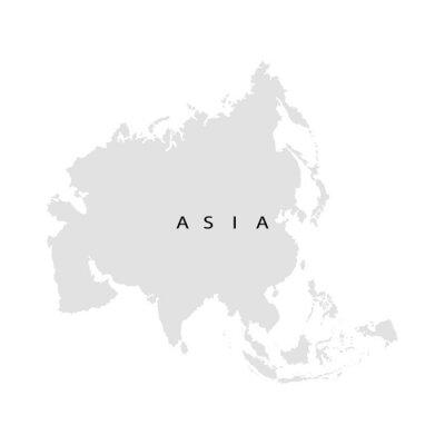 Fototapete Kontinent Asien