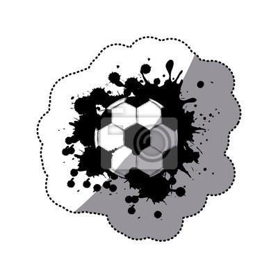 Kontur Fußball-Symbol, Vektor illustraction Design