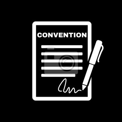 Konventionssymbol Vertrag Und Unterschrift Pakt Vereinbarung