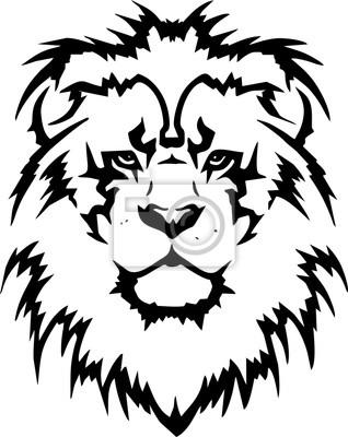 Kopf Löwen Stammes