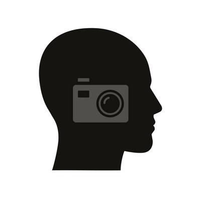 Fototapete Kopf-Symbol. Vektor.