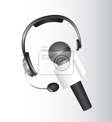 Kopfhörer und microhone