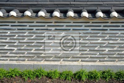 Korea Zaun Wand Hintergrund Fototapete Fototapeten Seoul Korea