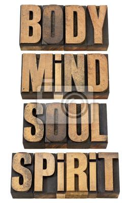 Körper, Geist und Seele in Soull Holzart