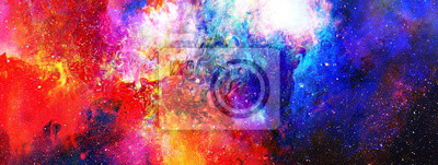 Fototapete Kosmischen Raum und Sterne, Farbe kosmischen abstrakten Hintergrund.