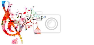 Kreative musik-stil vorlage vektor-illustration, bunte g ...