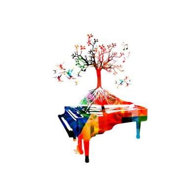 Kreative musik-stil vorlage vektor-illustration, bunte klavier ...
