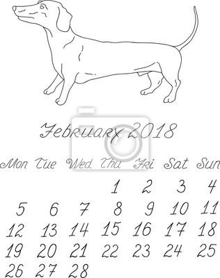 Kreative vektor hand gezeichnet doodle monatlich englisch kalender ...
