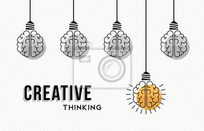 Fototapete Kreatives Denken Konzept Design mit menschlichen Gehirnen