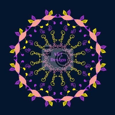 Fototapete Kreatives Plakat Konzept Für Kunst Entwurf. Form Des Kreises.  Helle Farben