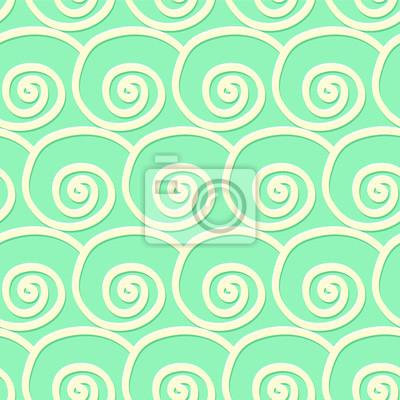 Kreise und wirbelt nahtlose Muster im Vintage-Stil