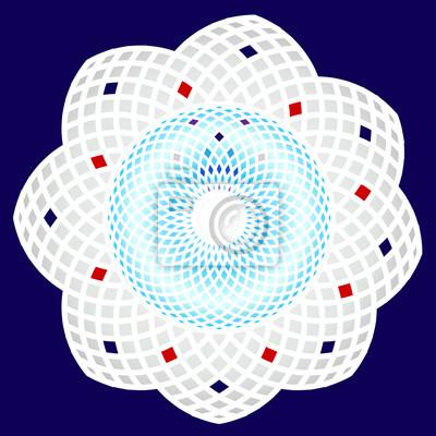 Kreisförmigen dekorativen Muster.