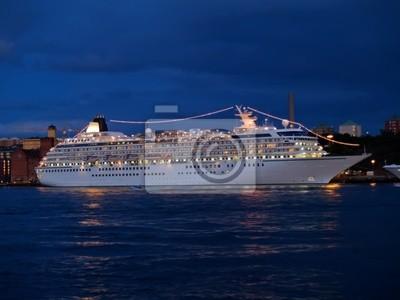 Fototapete Kreuzfahrtschiff im Zentrum von Stockholm, Schweden