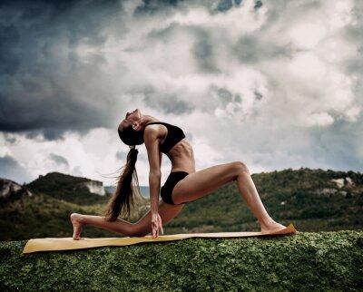 Fototapete Krieger Yoga-Pose