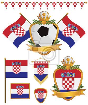 Kroatien-Flaggen