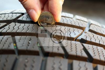 Krp5 Kontrollreifenpprofil Krp Reifenprofil Mit Euro Münze
