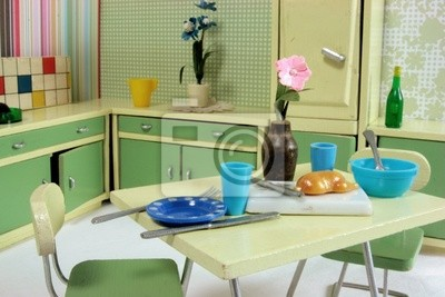 Fototapete: Küche 50er jahre
