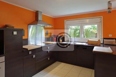 Küche équipée intérieur maison fototapete • fototapeten Erdgeschoss ...