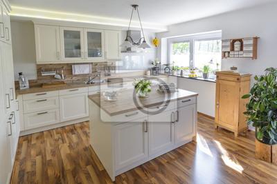 Küche im landhausstil fototapete • fototapeten Innenräume, Neubau ...