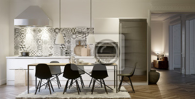 Sehr Küche in altbau fototapete • fototapeten appartment, Innenräume BI69