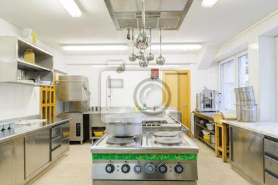 Küche in einem hotel oder restaurant fototapete • fototapeten Lampen ...