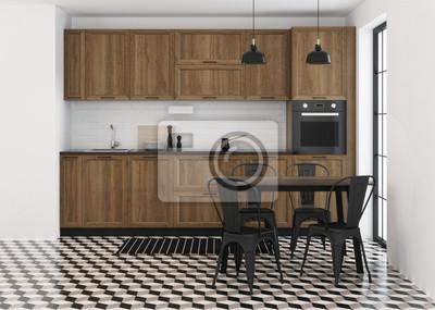 Küche Innenarchitektur Im Modernen Stil 3d Rendering Fototapete