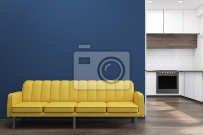 Küche mit einem sofa fototapete • fototapeten appartment ...