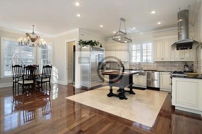 Küche mit essbereich fototapete • fototapeten Ausstattung, Schiefer ...