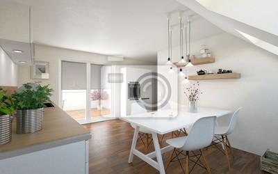 Küche mit essplatz fototapete • fototapeten Zimmer, Wohnung ...