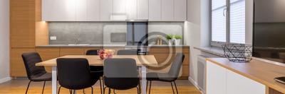 Küche mit esstisch fototapete • fototapeten appartment ...